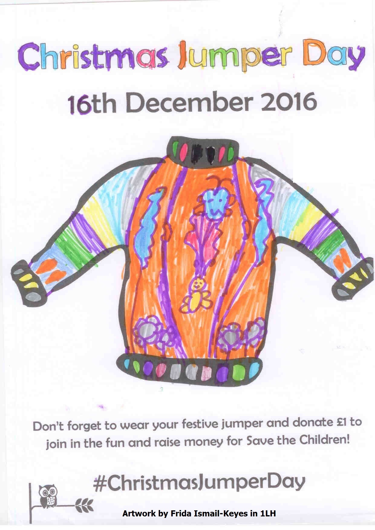 Christmas Jumper Day Posters - Oswald Road Primary School